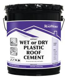 Roofworks Wet Or Dry Plastic Roof Cement 4 75 Gal At