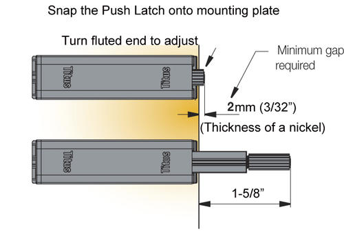 KLËARVŪE Cabinetry® Push Opener - 2 pk at Menards®