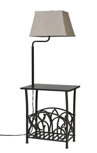 54 In Bronze Built Table Floor Lamp