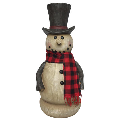 enchanted forest 36 woodcut snowman statue at menards