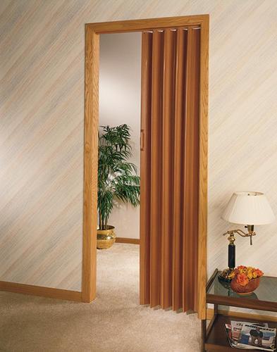 Design House Decor 32\  W x 80\  H Pecan Finish Vinyl Folding Door at Menards® & Design House Decor 32\