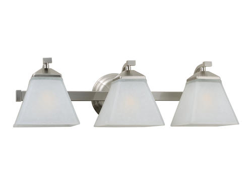 Monarch 3 light 21 satin nickel indoor vanity light at menards