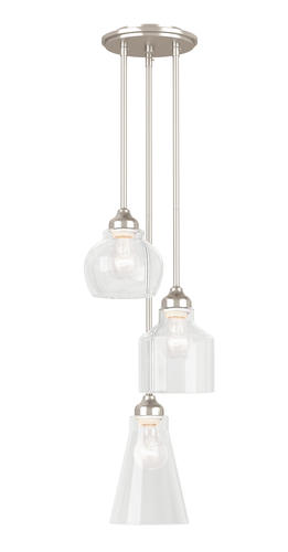 Misty 3 Light Cluster Pendant In Brushed Nickel At Menards®