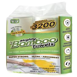 Mighty Bamboo Towels - 2 Rolls