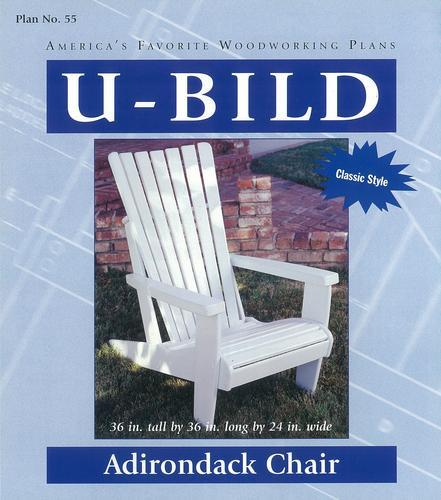 Adirondack Chair Project   Building Plans Only