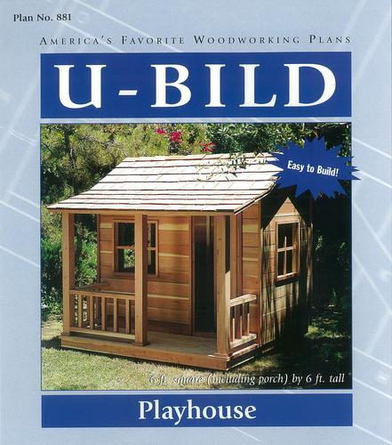 Playhouse Project - Building Plans Only at Menards® on doghouse with porch plans, workshop with porch plans, cabin with porch plans, garage with porch plans, cottage with porch plans,