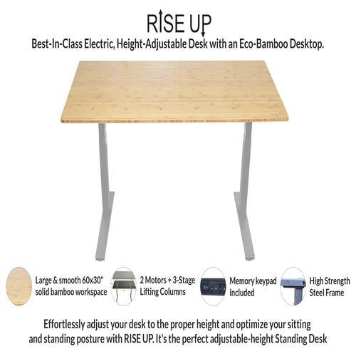 Uncaged Ergonomics Rise Up Electric Adjustable Height Standing Desk