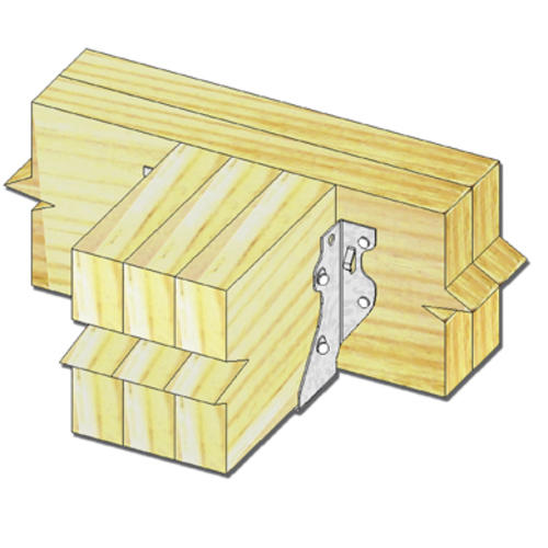 Mitek 2 X 6 8 Slant Nail Triple Joist Hanger At Menards