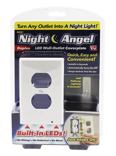 Lighted Duplex Wall Outlet Cover Plate
