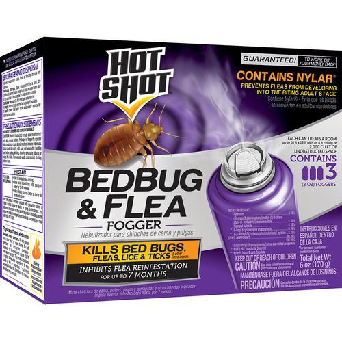 hot shot® bed bug & flea insect killer fogger - 3 pack at menards®
