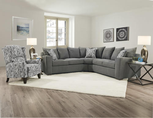 Fine Lane Home Essentials Sidney Smoke 2 Piece Sectional At Menards Caraccident5 Cool Chair Designs And Ideas Caraccident5Info