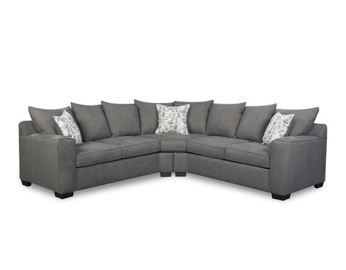 Swell Lane Home Essentials Sidney Smoke 2 Piece Sectional At Menards Gmtry Best Dining Table And Chair Ideas Images Gmtryco