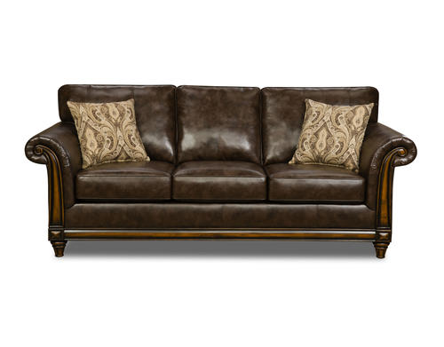 Wood Trim Sofa Italian Leather Sofa With Wood Trim Thesofa