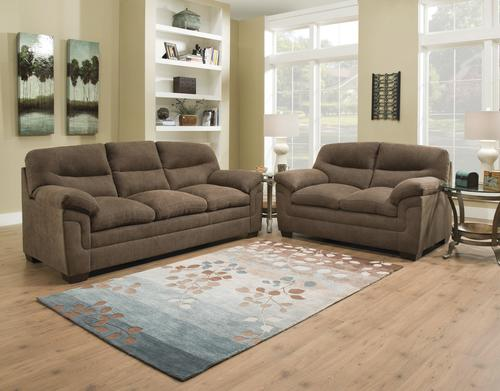 Simmons Living Room Furniture.  Simmons Pacific Chocolate Sofa at Menards
