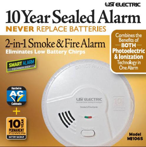 universal security direct wire smoke alarm