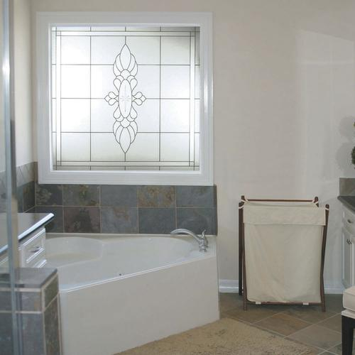 decorative glass windows traditional bathroom.htm hy lite 49  x 49  fixed manchester decorative glass picture window  fixed manchester decorative glass