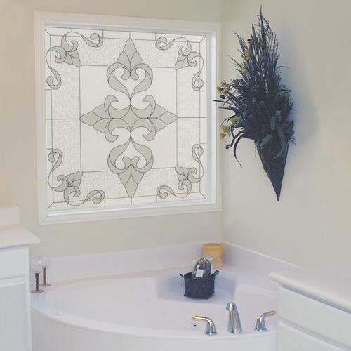 decorative glass windows traditional bathroom.htm hy lite 49  x 49  fixed renaissance decorative glass picture  decorative glass