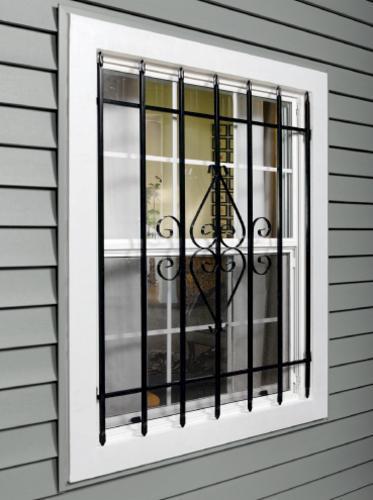 Tru Bolt Black Steel Window Security Bars At Menards