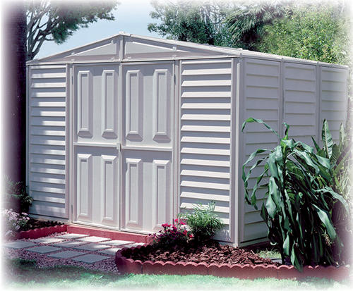 duramax woodbridge 105 x 8 storage shed at menards