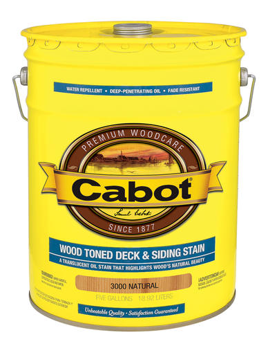 Cabot 174 Natural Wood Toned Deck Amp Siding Stain 5 Gal At
