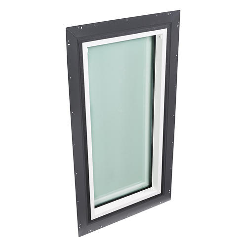 """Velux® 22""""W x 30""""H Pan Flashed Non-Vented Skylight with Tempered Glass"""