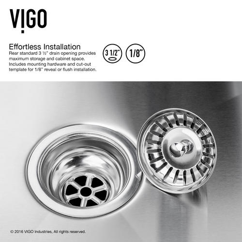 "VIGO All in One 29"" Undermount Stainless Steel Double Bowl Kitchen Sink and Faucet Set at Menards®"