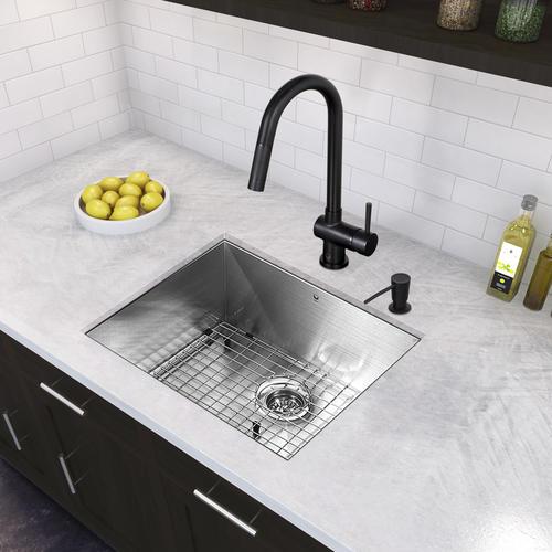 VIGO Gramercy One-Handle Pull-Down Matte Black Kitchen ...