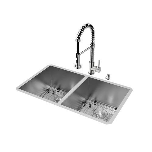 VIGO Stainless Steel Undermount Kitchen Sink, Faucet and ...