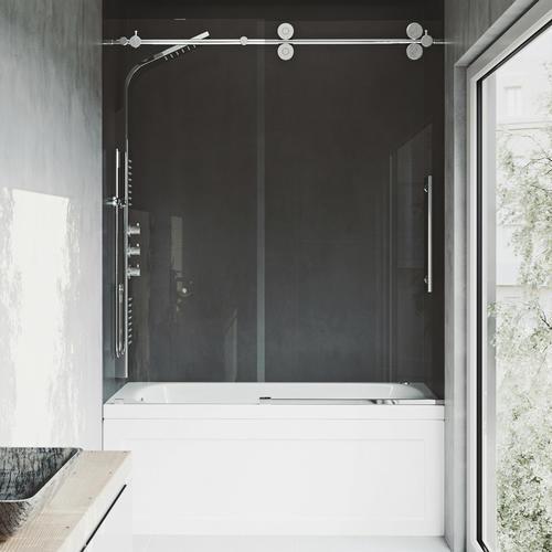Vigo 31 5 8 W X 66 H Frameless Sliding Bathtub Shower Door