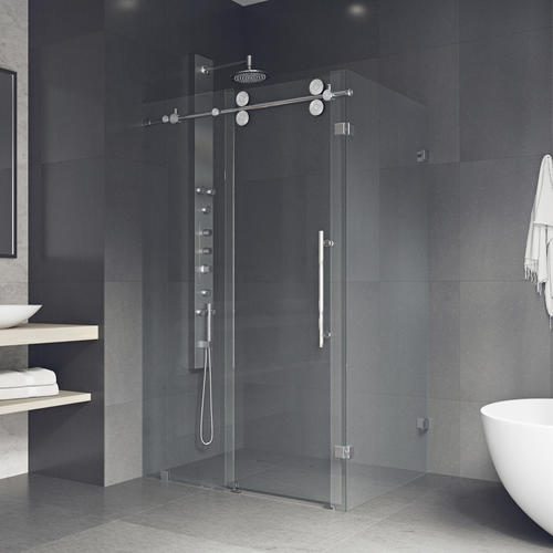 Vigo 46 1 2 X 34 5 8 74 H Frameless Sliding Shower