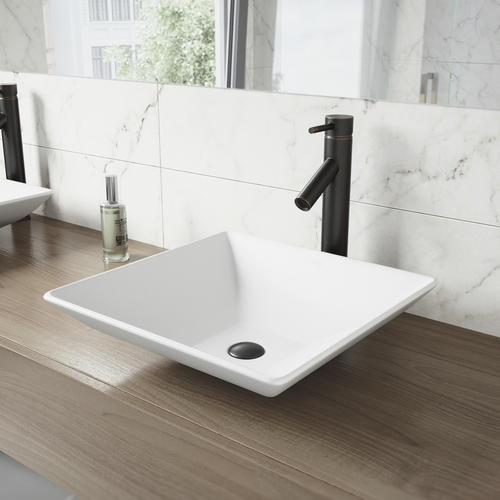 amazing marble countertop sink design and modern faucet.htm vigo 15 3 8  hibiscus square vessel sink with faucet at menards    hibiscus square vessel sink with faucet