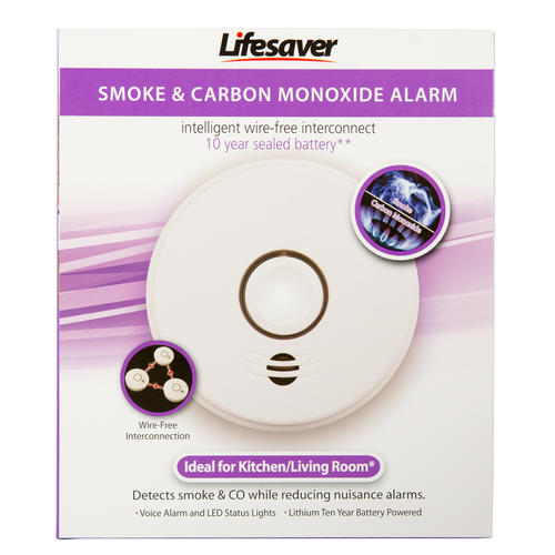 Lifesaver Wire-Free 10 Year Interconnected Combination Smoke