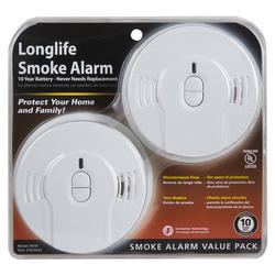 Kidde 10 Year Sealed In Lithium Battery Powered Smoke Alarm With