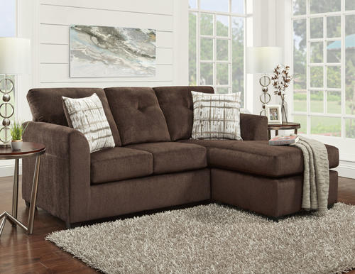 Kelly Chocolate Brown Sofa With Chaise At Menards