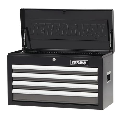 "performax® 26"" x 12"" black & platinum 4-drawer tool chest at menards®"