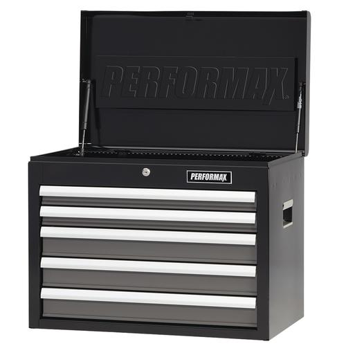 "performax® 26"" x 16"" black & platinum 5-drawer tool chest at menards®"