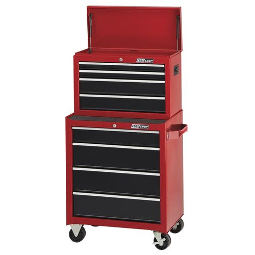 "tool shop® 26"" x 18"" red & black 8-drawer mobile tool chest ..."