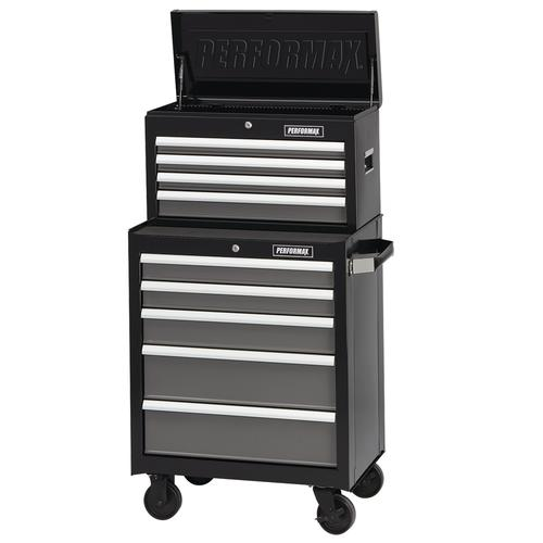 "performax® 26"" x 18"" black & platinum 9-drawer mobile tool chest ..."