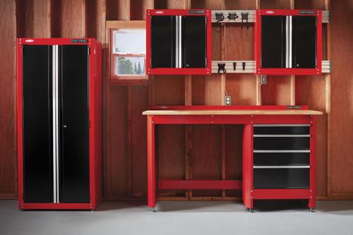 Craftsman 104 W X 74 H 24 D Red