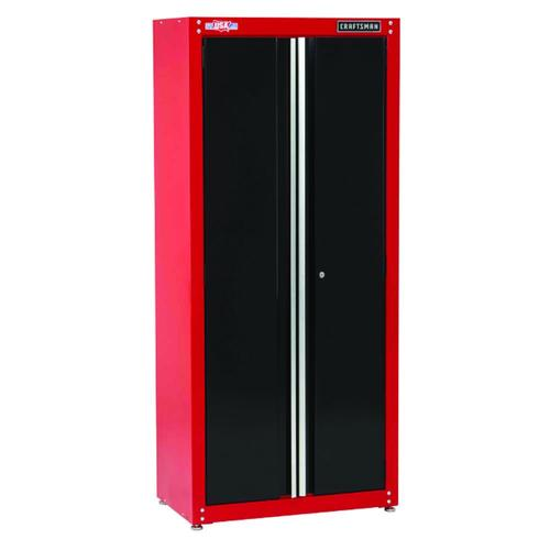 Red Black Tall Storage Cabinet