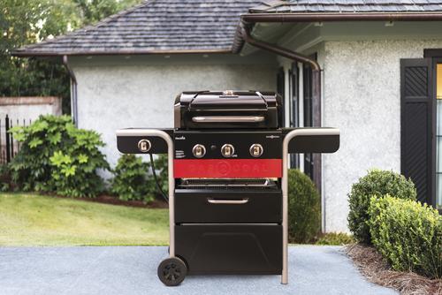 Char Broil Gas2coal 3 Burner Charcoal And Gas Hybrid Grill With Side
