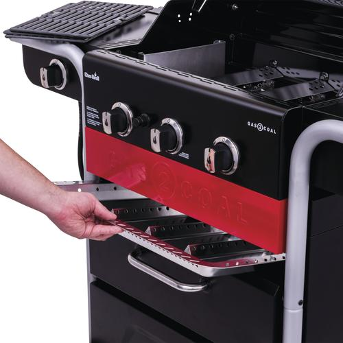 Char-Broil® Gas2Coal® 3-Burner Charcoal and Gas Hybrid Grill with Side Burner