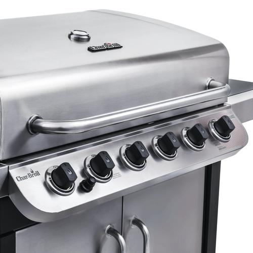 Char Broil Performance 650 6 Burner Propane Gas Grill With Side