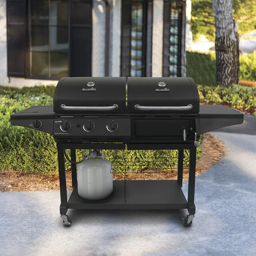 Char-Broil® 3-Burner Charcoal & Gas Combo Grill with Side ...