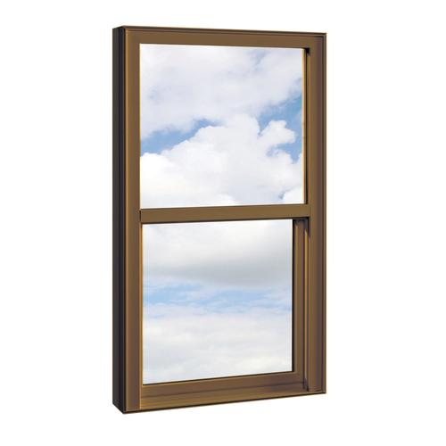 "Crestline® Select 250™ 24-1/4"" x 62"" Vinyl Terra Bronze Single Hung Pocket Window with Zo-E 5 Insulated Glass"