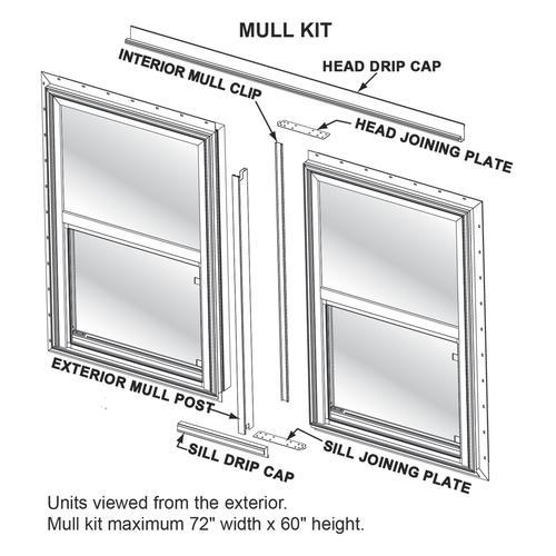 Crestline Quick Ship Series Vinyl Mull Kit - White at Menards®