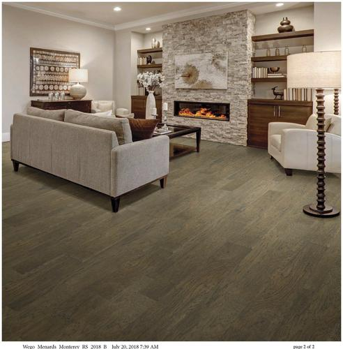 Fast Floor 1 2 X Mixed Widths Monterey Hand Scraped Hickory