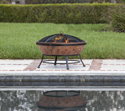 Backyard Creations 174 35 Quot Copper Patina Steel Fire Pit At