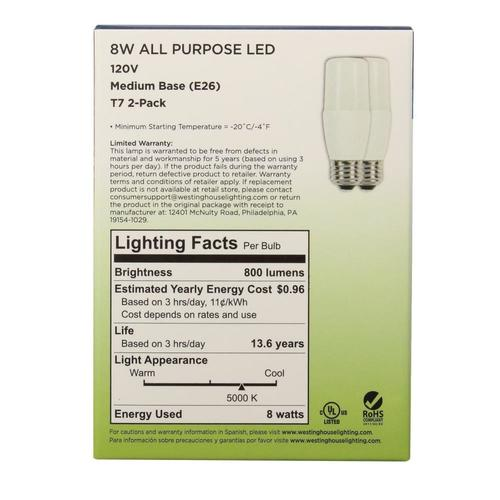 Equivalent T7 Bulb Led Westinghouse At Light 2 Pack 60w Menards® wOPiXukZT