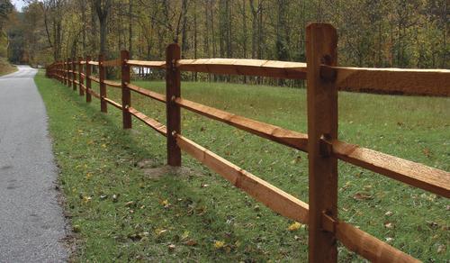 West Virginia Split Rail 11 Cedartone Treated Pine Rail
